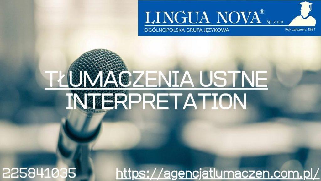 Tłumaczenia ustne