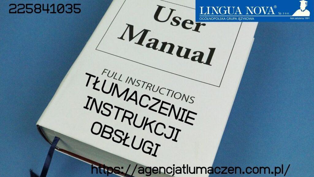 Tłumaczenie Instrukcji Obsługi