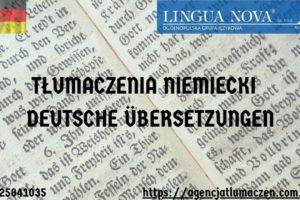 Tłumaczenie niemiecki