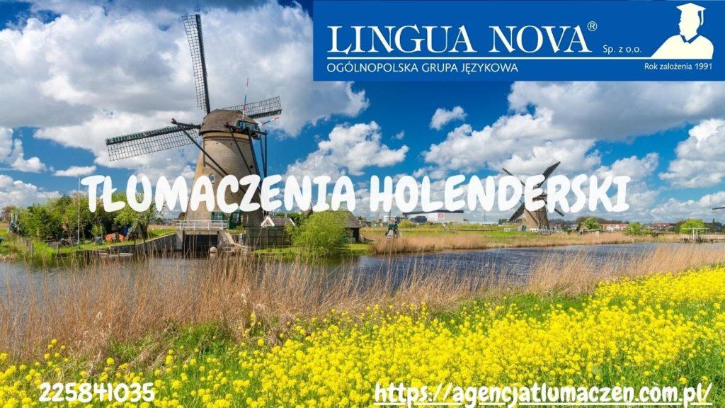 Tłumaczenia holenderski