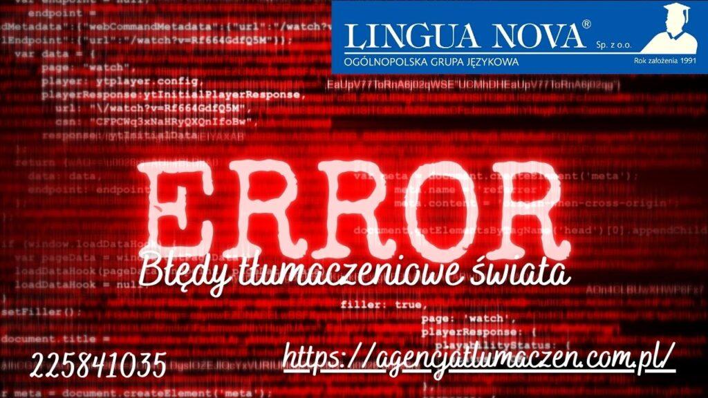 błędy tłumaczeniowe świata