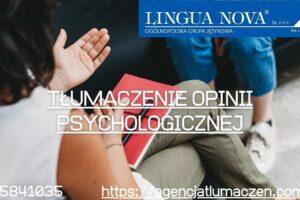 Tłumaczenie opinii psychologicznej