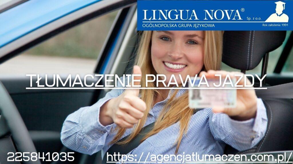 tłumaczenie prawa jazdy