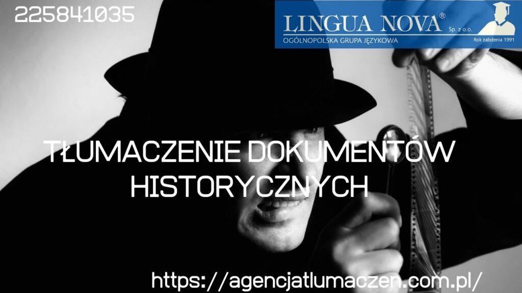 Tłumaczenie dokumentów historycznych